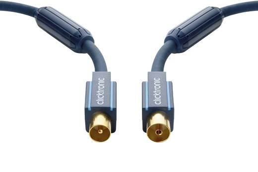 clicktronic Antennen Anschlusskabel [1x Antennenstecker 75 Ω - 1x Antennenbuchse 75 Ω] 15 m 95 dB vergoldete Steckkontak