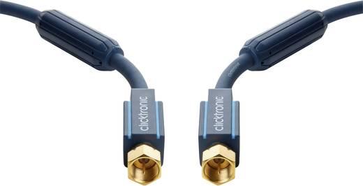 clicktronic SAT Anschlusskabel [1x F-Stecker - 1x F-Stecker] 10 m 95 dB vergoldete Steckkontakte, mit Ferritkern Blau