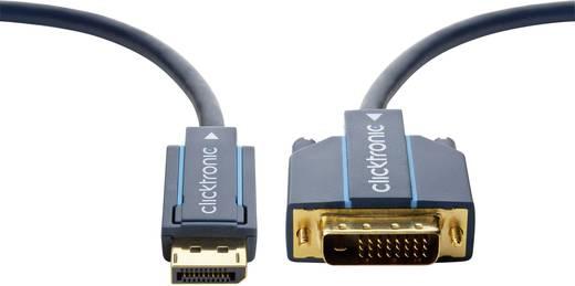 clicktronic DisplayPort / DVI Anschlusskabel [1x DisplayPort Stecker - 1x DVI-Stecker 24+1pol.] 3 m Blau