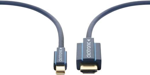 clicktronic DisplayPort / HDMI Anschlusskabel [1x Mini-DisplayPort Stecker - 1x HDMI-Stecker] 2 m Blau