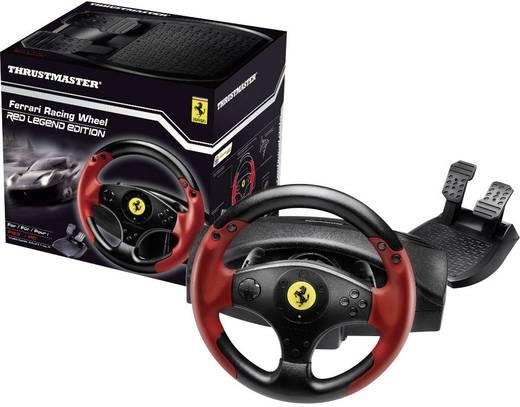 Lenkrad Thrustmaster Ferrari® Red Legend Edition USB PlayStation® 3, PC Schwarz, Rot inkl. Pedale