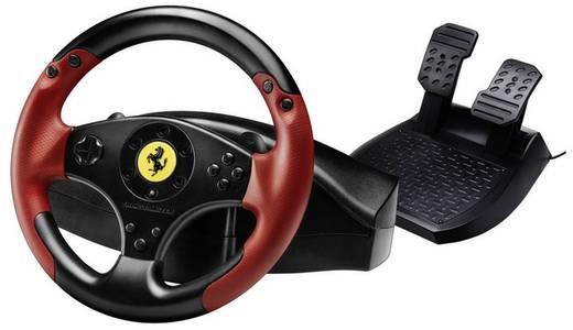 Thrustmaster Ferrari® Red Legend Edition Lenkrad USB PlayStation 3, PC Schwarz, Rot inkl. Pedale
