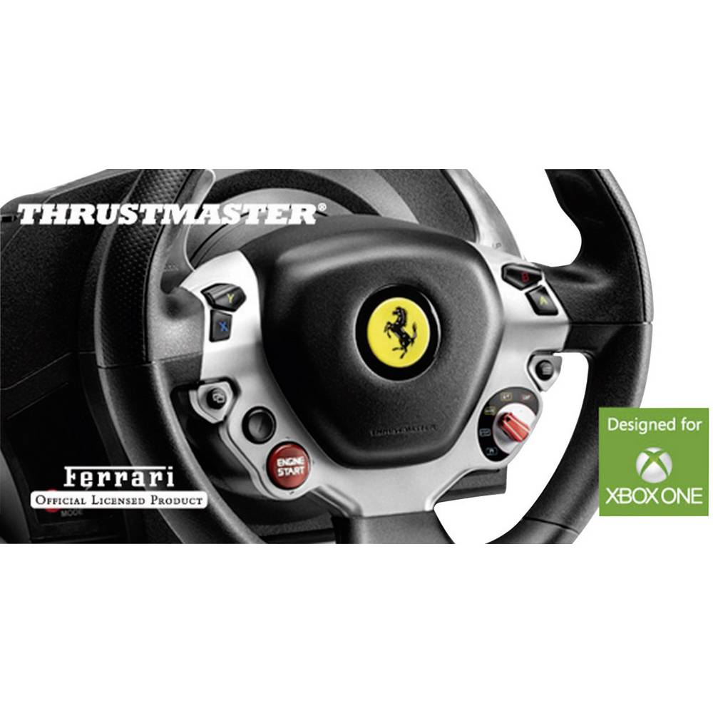 volante thrustmaster tx racing wheel ferrari 458 italia edition usb xbox one nero argento incl. Black Bedroom Furniture Sets. Home Design Ideas