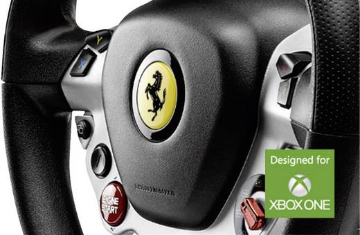 Lenkrad mit Pedalen Thrustmaster TX Racing Wheel Ferrari® 458 Italia Edition USB Xbox One Schwarz, Silber