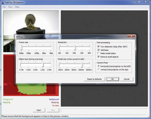 FabliTec 3D Scanner Software