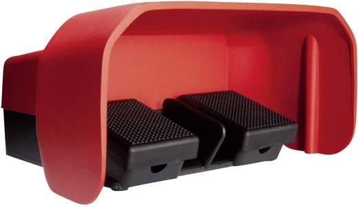 Fußschalter 500 V/AC 10 A 2 Pedale mit Schutzhaube 1 Schließer, 1 Öffner ASA Schalttechnik FS2 U1/U1 U IP65 1 St.