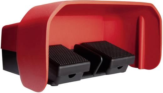 Fußschalter 500 V/AC 10 A 2 Pedale mit Schutzhaube 1 Schließer, 1 Öffner ASA Schalttechnik FS2 SU1R/SU1R U IP65 1 St.