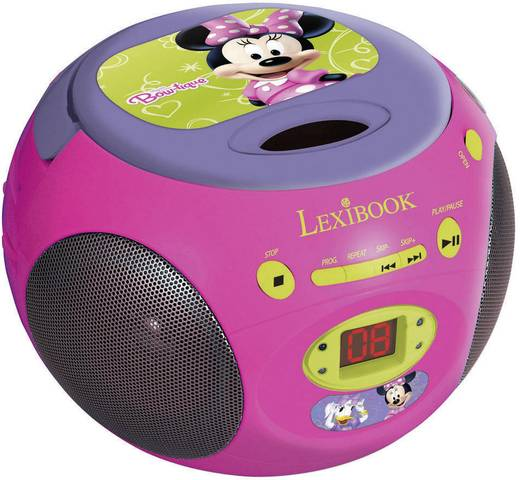lexibook minnie mouse cd player f r kinder cd radio pink lila. Black Bedroom Furniture Sets. Home Design Ideas