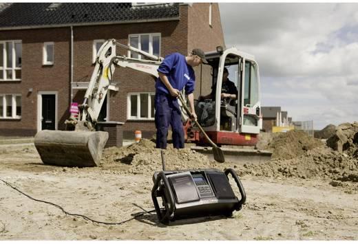 PerfectPro Rockbull DAB+ Baustellenradio AUX, DAB+, UKW spritzwassergeschützt, staubdicht Schwarz