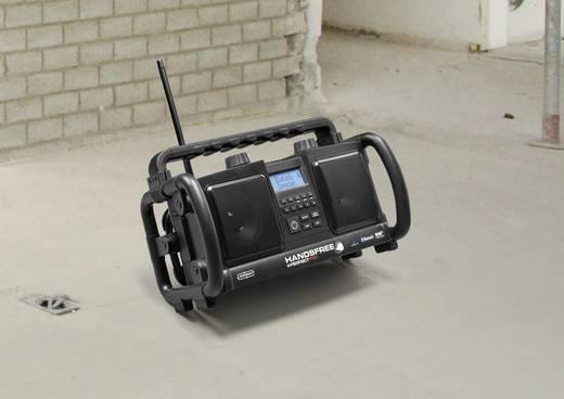 DAB+ Baustellenradio PerfectPro Handsfree AUX, Bluetooth®, DAB+, UKW Akku-Ladefunktion, Freisprechfunktion, staubdicht,