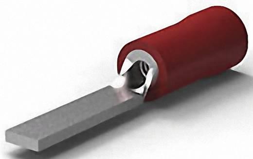 Stiftkabelschuh flache Ausführung 0.25 mm² 1.6 mm² Teilisoliert Rot TE Connectivity 131443 1 St.