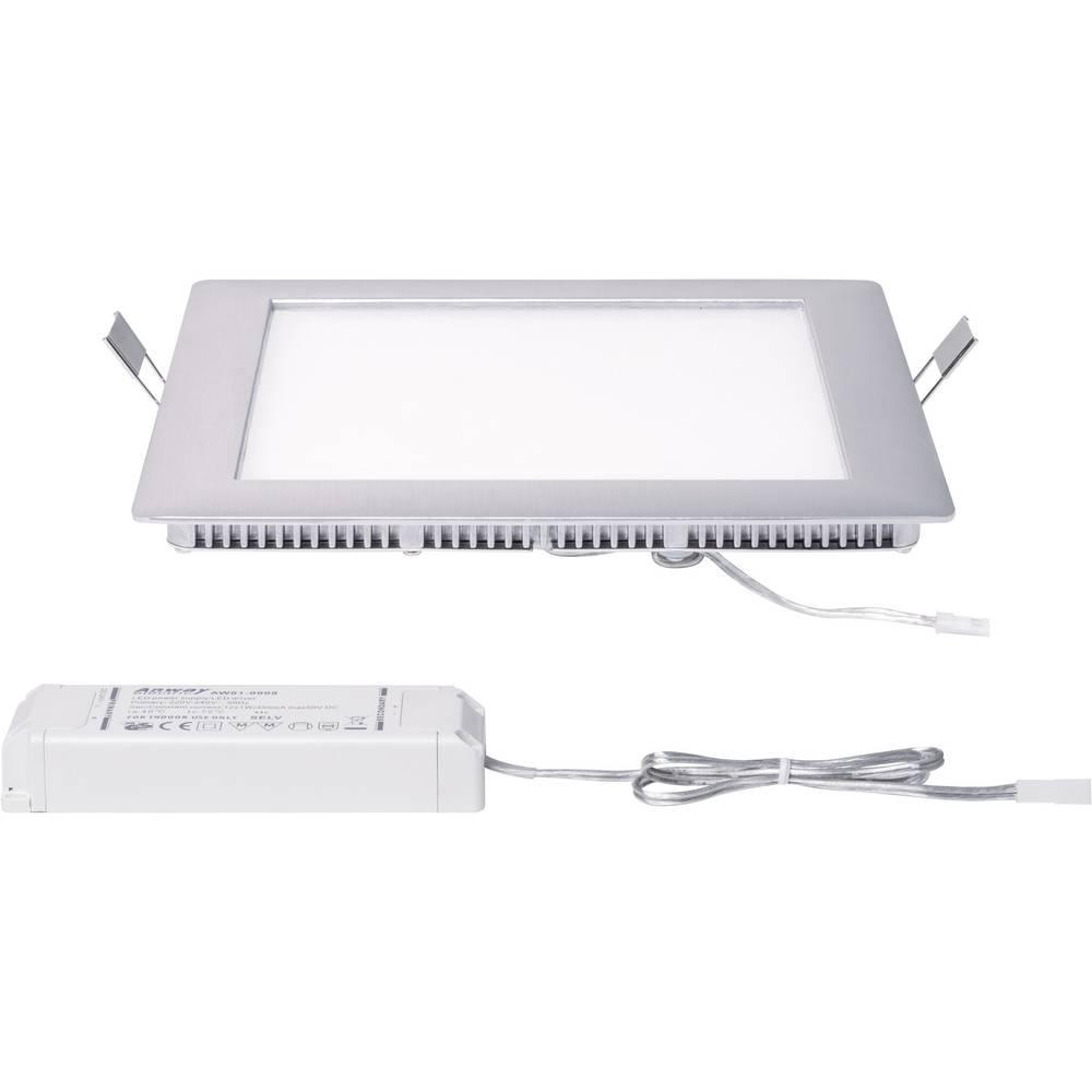 Paulmann 92614 LED-Einbauleuchte 15 W Warm-Weiß Aluminium (gebürstet ...