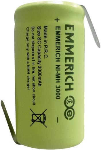 Spezial-Akku Sub-C Z-Lötfahne NiMH Emmerich Sub-C ZLF 1.2 V 3000 mAh