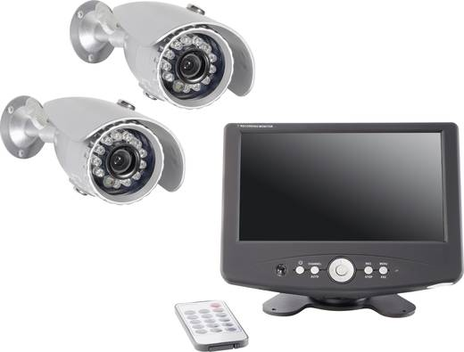 Analog Videoüberwachungs-Set 2-Kanal mit 2 Kameras 640 x 480 Pixel420 TVL Renkforce DVR 808577