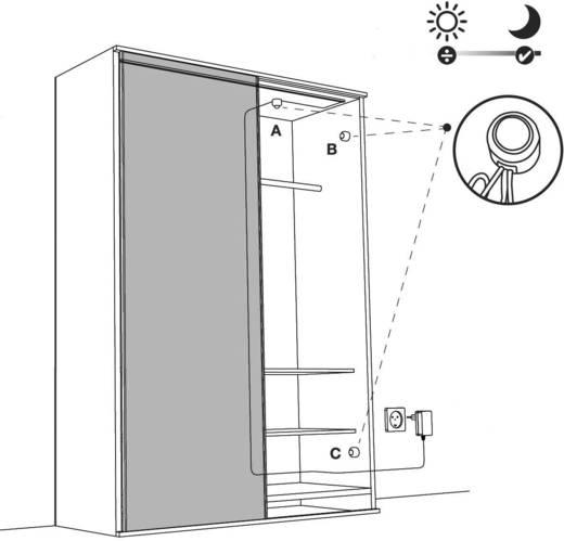 LED-Streifen-Komplettset mit Stecker 230 V 300 cm Warm-Weiß closet light 0144050141