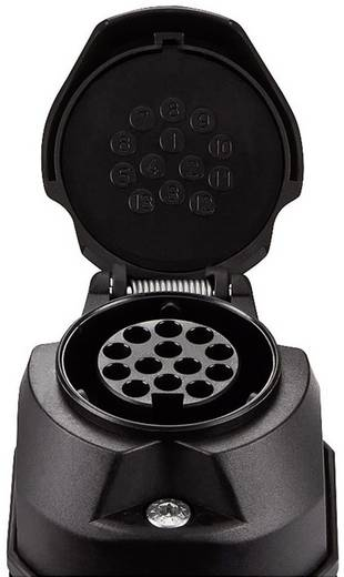 Anhänger-Steckdose [Steckdose 13polig - Stecker 13polig] SecoRüt 30130 ABS Kunststoff