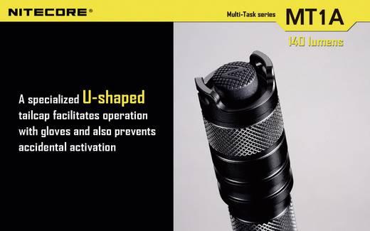 LED Mini-Taschenlampe NiteCore Multi Task MT1A batteriebetrieben 55 g Schwarz
