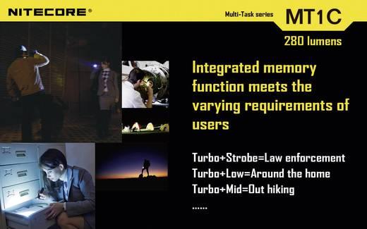 LED Mini-Taschenlampe NiteCore Multi Task MT1C batteriebetrieben 280 lm 23 h 42 g