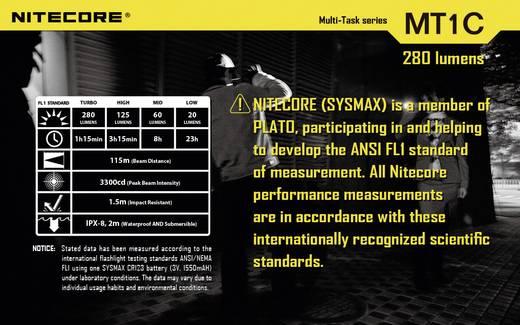 LED Mini-Taschenlampe NiteCore Multi Task MT1C batteriebetrieben 42 g Schwarz