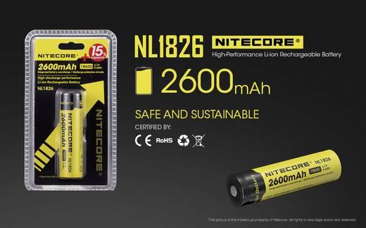 Spezial-Akku 18650 Li-Ion NiteCore NL1826 3.7 V 2600 mAh