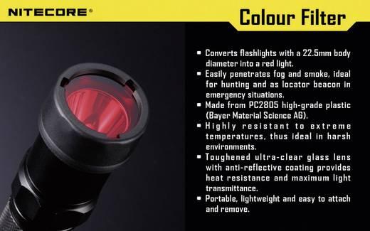 Farbfilter Rot Passend für (Details): MT1A, MT2A, MT1C und Taschenlampen mit einen Ø 23 mm NiteCore NITNFR23