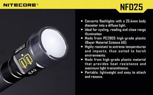 Diffusor Passend für (Details): EC1, EC2, EA1, EA2, MT2C, P12, SRT3, SRT5 und Taschenlampen mit einen Ø 25 mm NiteCore