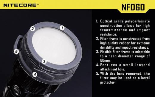Diffusor MH40, TM11, TM15, EA8 und Taschenlampen mit einen Ø 59 - 62 mm NiteCore NITNFD60