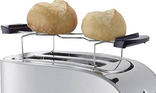 Toaster mit Bagel-Funktion, mit Brötchenaufsatz WMF STELIO Toaster Edelstahl