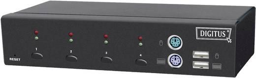 Digitus DC-12202-1 4 Port KVM-Umschalter VGA USB, PS/2 2048 x 1536 Pixel