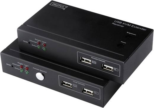 VGA, USB Extender (Verlängerung) über Netzwerkkabel RJ45 Digitus Professional DS-51200 200 m
