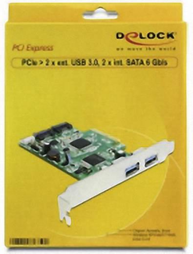 2 Port USB 3.0-Controllerkarte USB-A PCIe Delock 2 Port USB 3.0 extern / 2 Port SATA intern PCI Express