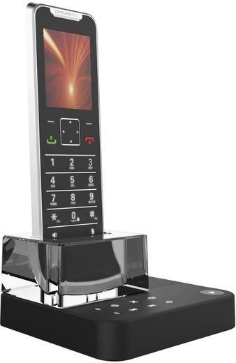 Schnurloses Telefon analog Motorola IT.6.1T Anrufbeantworter, Bluetooth Schwarz, Silber, Transparent