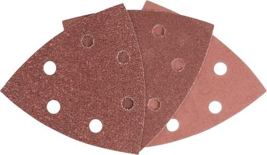 Deltaschleifpapier-Set mit Klett, gelocht Körnung 60, 120, 240 Eckmaß 93 mm Bosch Accessories 93 MM 6 2608605191 1 Set