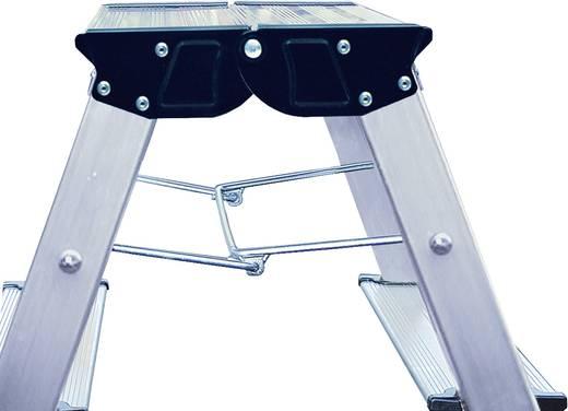 Aluminium Doppel-Klapptritt klappbar Arbeitshöhe (max.): 2.65 m Krause 130068 Silber 2.4 kg