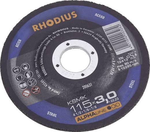 Trennscheibe gekröpft 125 mm 22.23 mm Rhodius KSMK 200636 1 St.