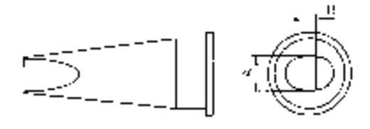 Weller Professional LHT-D Lötspitze Flachform Spitzen-Größe 4.7 mm Inhalt 1 St.