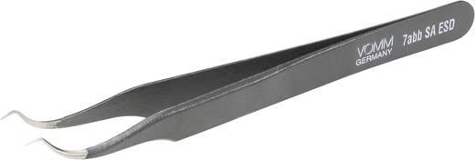 Bestückungspinzette 7abb SA-ESD Sichelspitze, versetzt 30° 120 mm VOMM 3612
