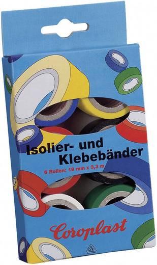 PVC-Klebeband-Set Coroplast Blau, Gelb, Rot, Schwarz, Weiß, Grün (L x B) 3 m x 19 mm Acryl Inhalt: 6 Rolle(n)