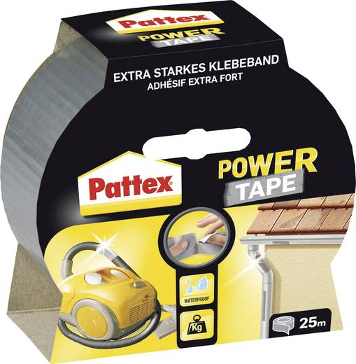 Gewebeklebeband Pattex Power Tape Silber (L x B) 25 m x 50 mm Pattex PT2DS 1 Rolle(n)