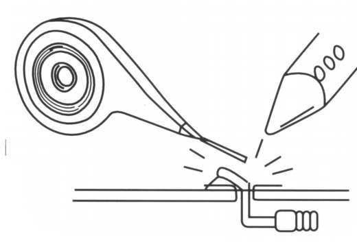 Entlötlitze Arexx AW-200 Länge 2 m Breite 1.7 mm Spender