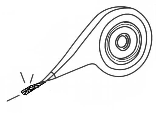 Entlötlitze Arexx AW-100 Länge 2 m Breite 2.6 mm Spender