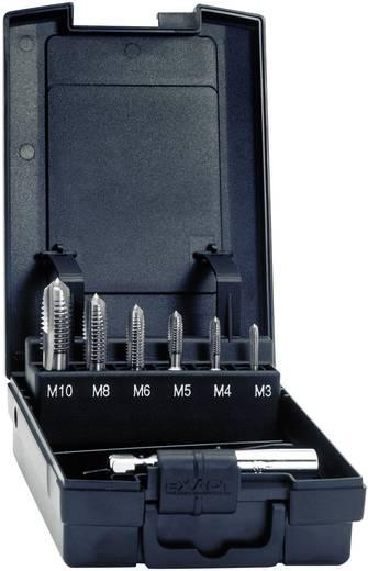 Einschnittgewindebohrer 7teilig metrisch M3, M4, M5, M6, M8, M10 Rechtsschneidend Exact 05937 DIN 3126 HSS 1 Set