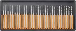 Sada mini spirálních HSS vrtáků RONA, Ø 2,35 mm, 30 dílů