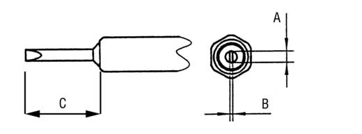 Lötspitze Meißelform Weller NT H Spitzen-Größe 0.8 mm Inhalt 1 St.