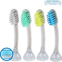 Náhradné nadstavce na zubné kefky EMAG EmmiDent E4 pre dospelých, 4 ks
