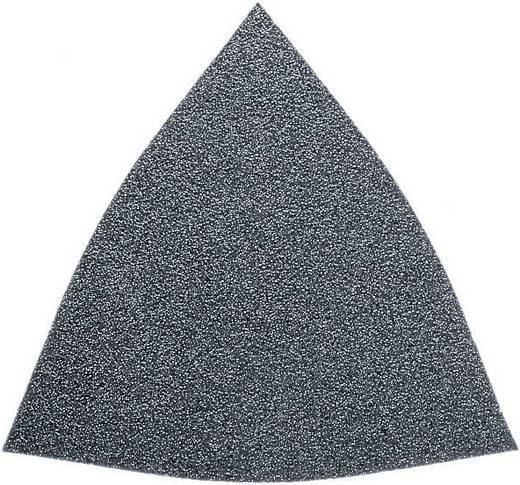 Deltaschleifpapier mit Klett, ungelocht Körnung 60 Eckmaß 80 mm Fein 63717082011 50 St.