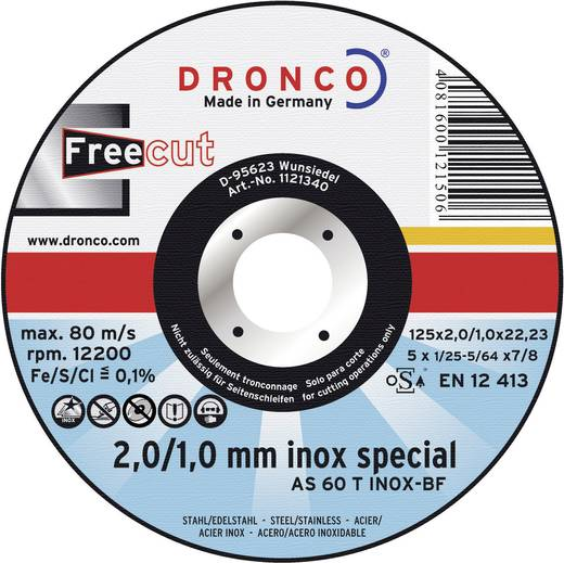 Trennscheibe gerade 115 mm 22.2 mm Dronco AS 60 T INOX 1111340 1 St.