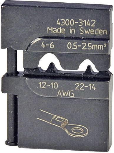Crimpeinsatz Unisolierte Rohrkabelschuhe, Unisolierte CU Ringkabelschuhe 0.5 bis 6 mm² Pressmaster 4300-3142 4300-314