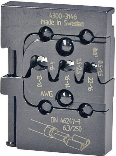 Crimpeinsatz Unisolierte Flachsteckhülsen Steckerbreite 6.3 mm 0.5 bis 6 mm² Pressmaster 4300-3146 4300-3146 Passend f