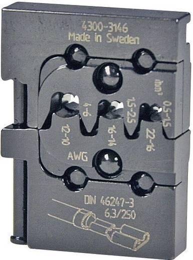 Crimpeinsatz Unisolierte Flachsteckhülsen Steckerbreite 6.3 mm 0.5 bis 6 mm² Pressmaster 4300-3146 4300-3146 Passend für Marke Pressmaster MCT